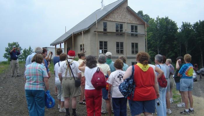 Straw bale home on a green tour near Glen Falls, New York