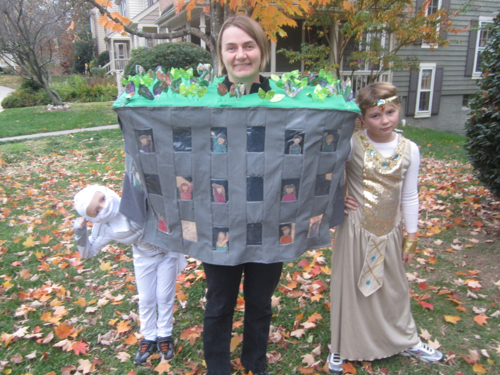 My green roof costume, Halloween 2012