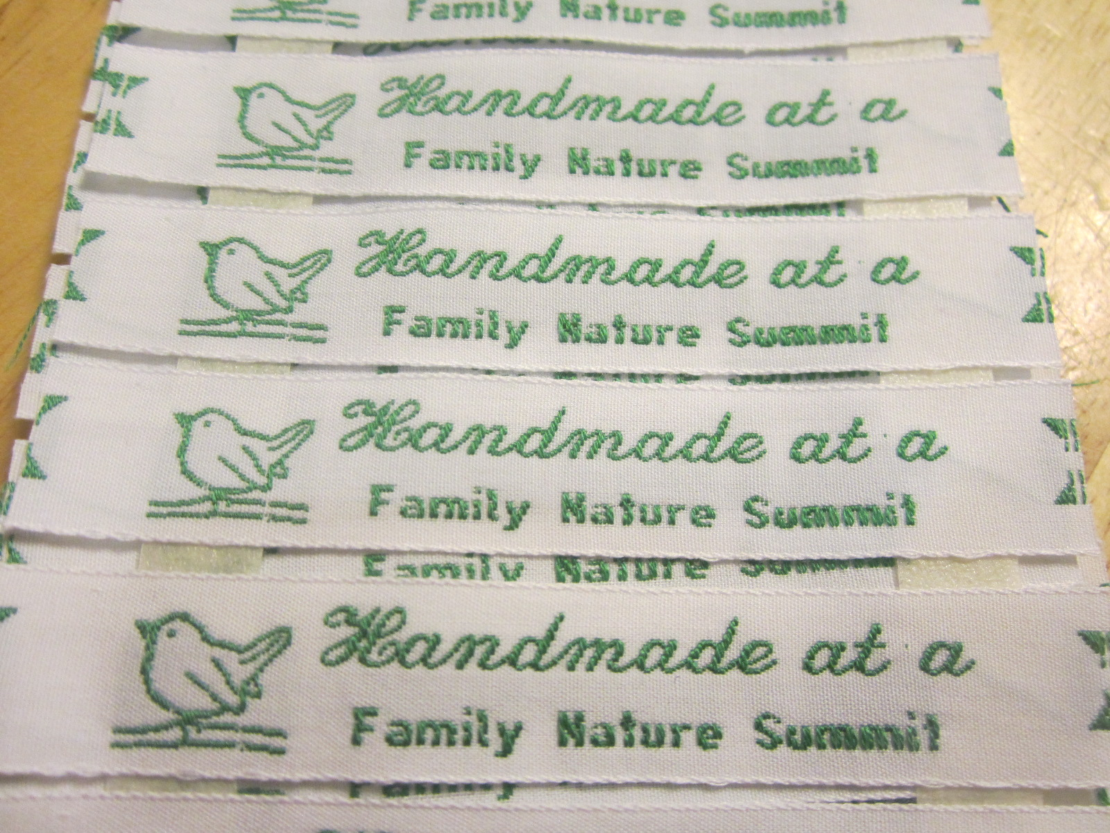 Handmade at a Family Nature Summit craft labels