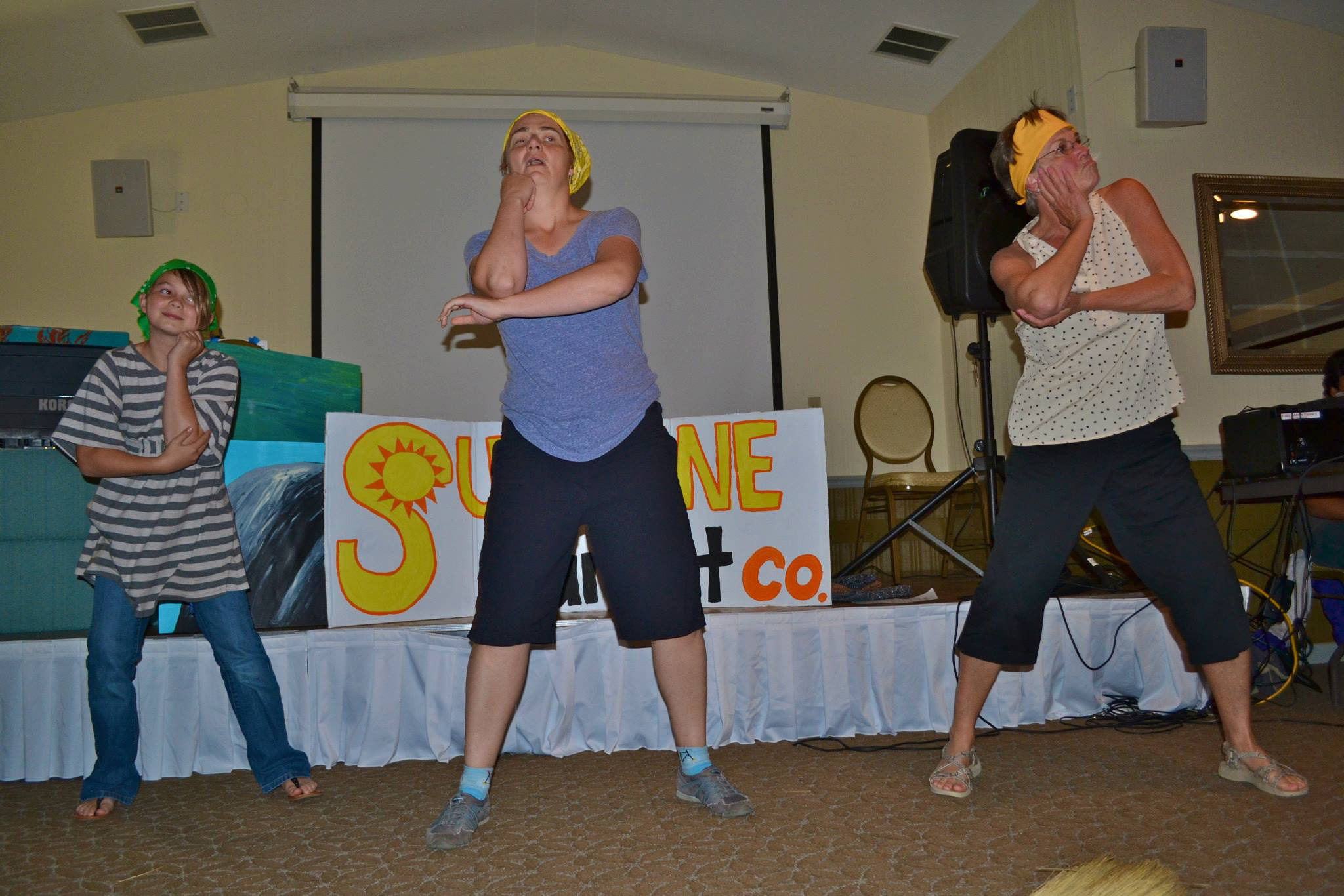 "Three generations dance to ""Walking on Sunshine"" by Katrina and the Waves"