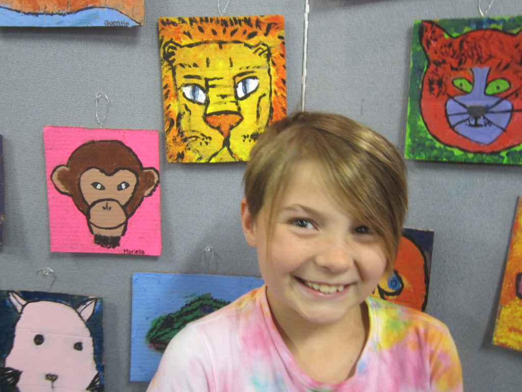 Nora's painting was the lion above her head