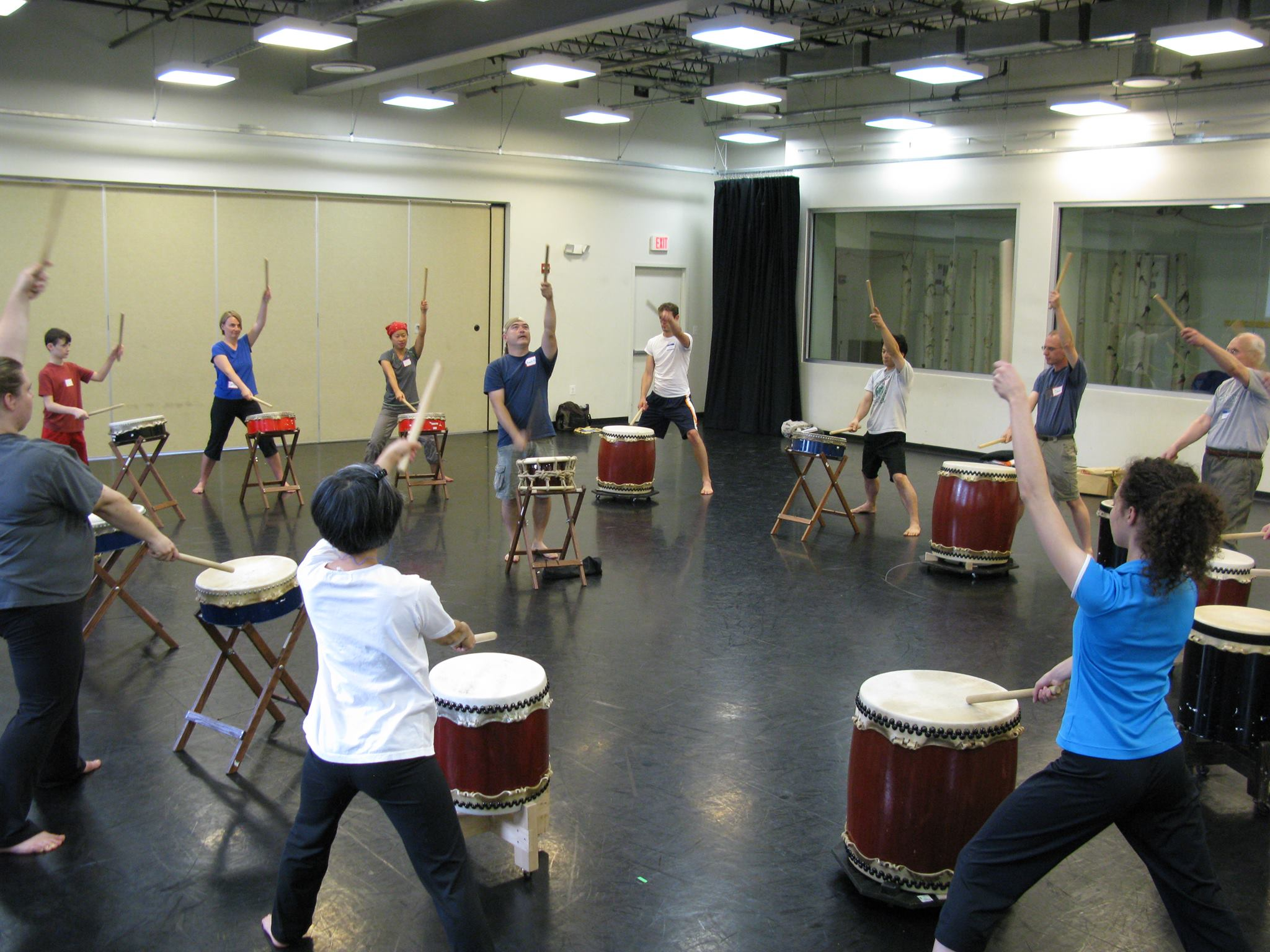 Learning taiko for the first time