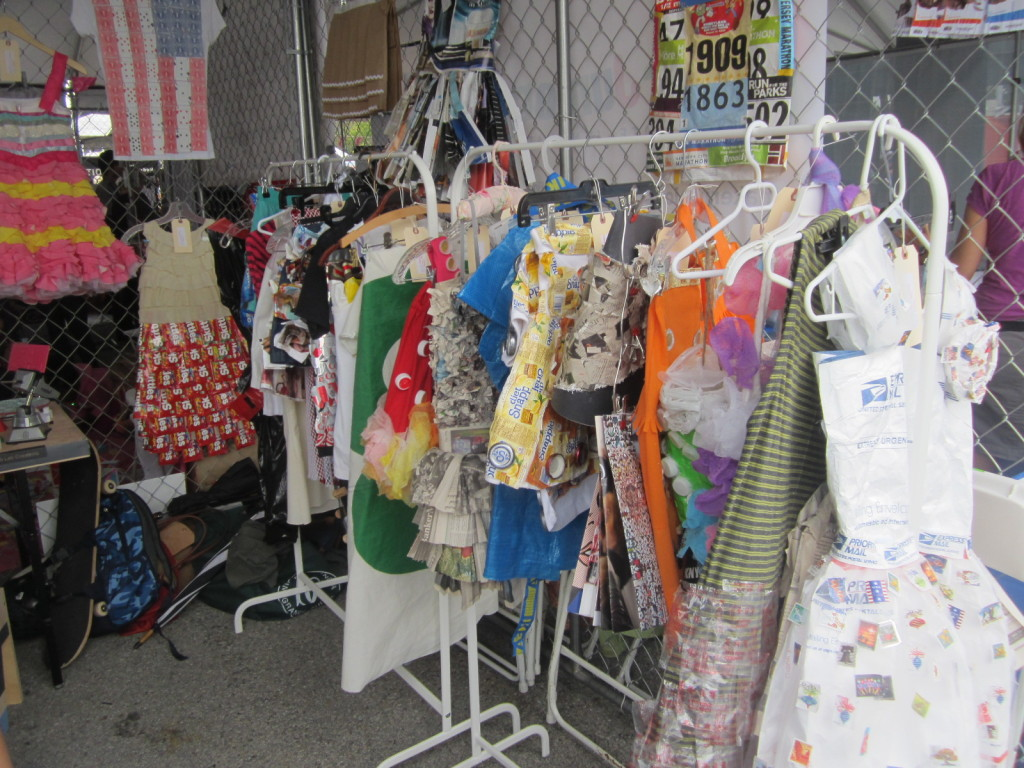 Trash Fashion Booth at World Maker Faire NYC
