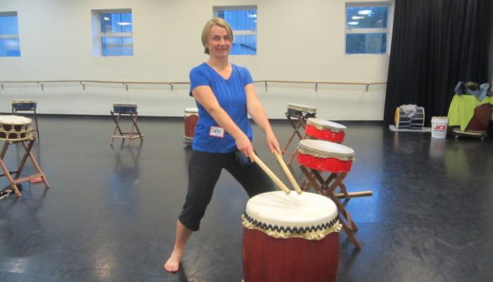 My first Taiko drumming class