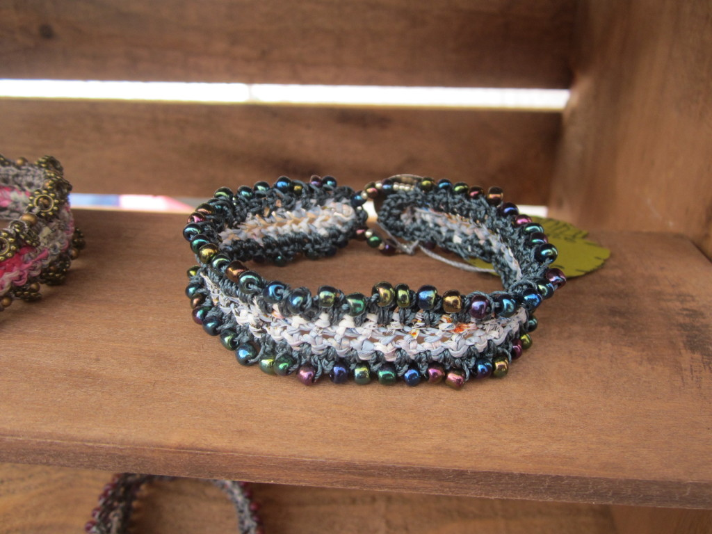 Beaded bracelet made by Linda Goetz Mierke from Jellyfish Jools