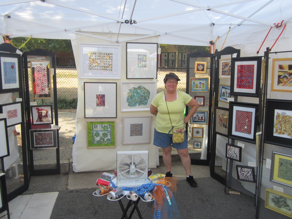 Barb Boatman from Cut Sew Create Studio makes art from recycled soda cans & threads