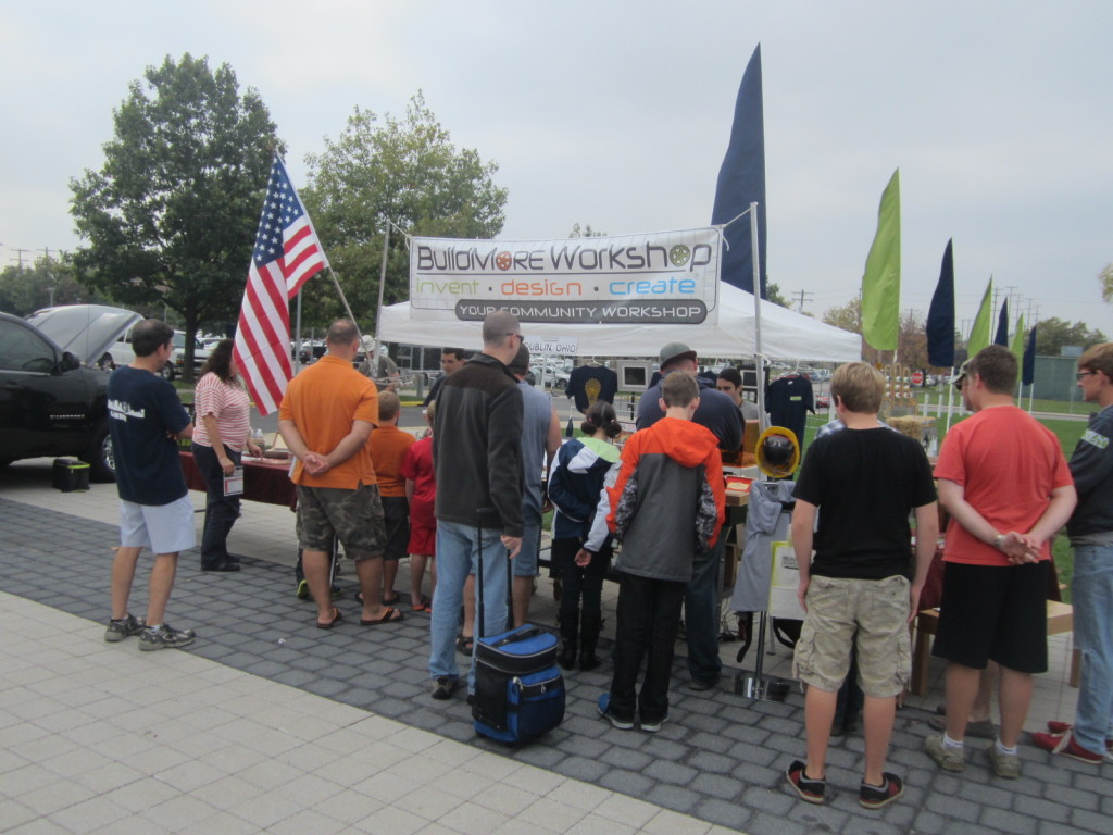 BuildMore Workshop's booth at the Columbus Maker Faire