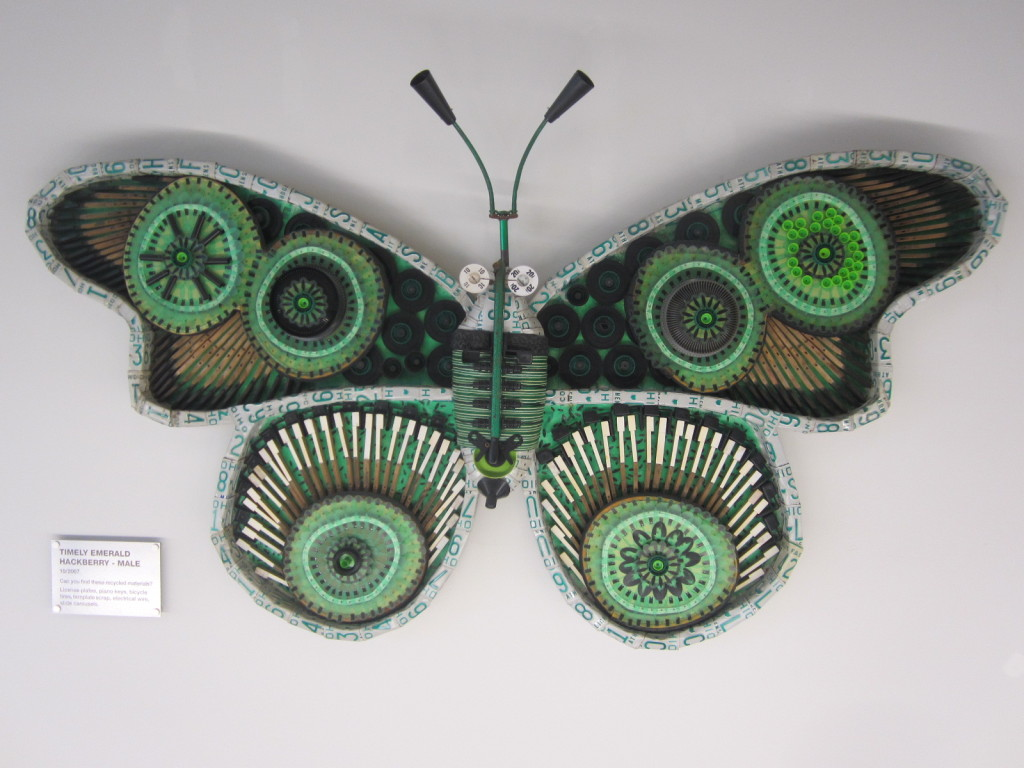 Michelle Stitzlein sculpture of a Timely Emerald Hackberry male moth