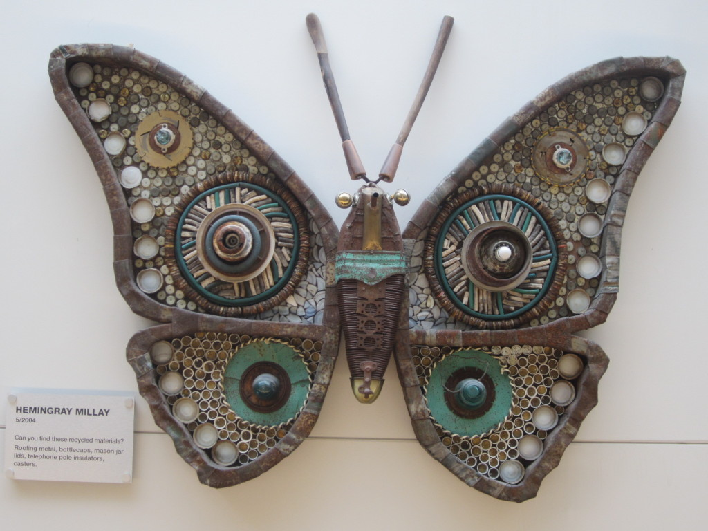 Michelle Stitzlein's Hemingray Millay moth sculpture
