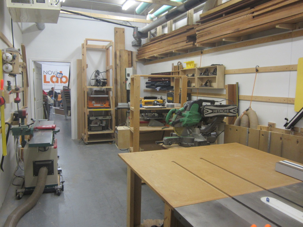 Wood Working Room at Nova Labs