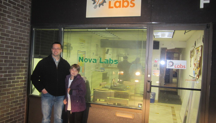 Bob & Nora outside Nova Labs