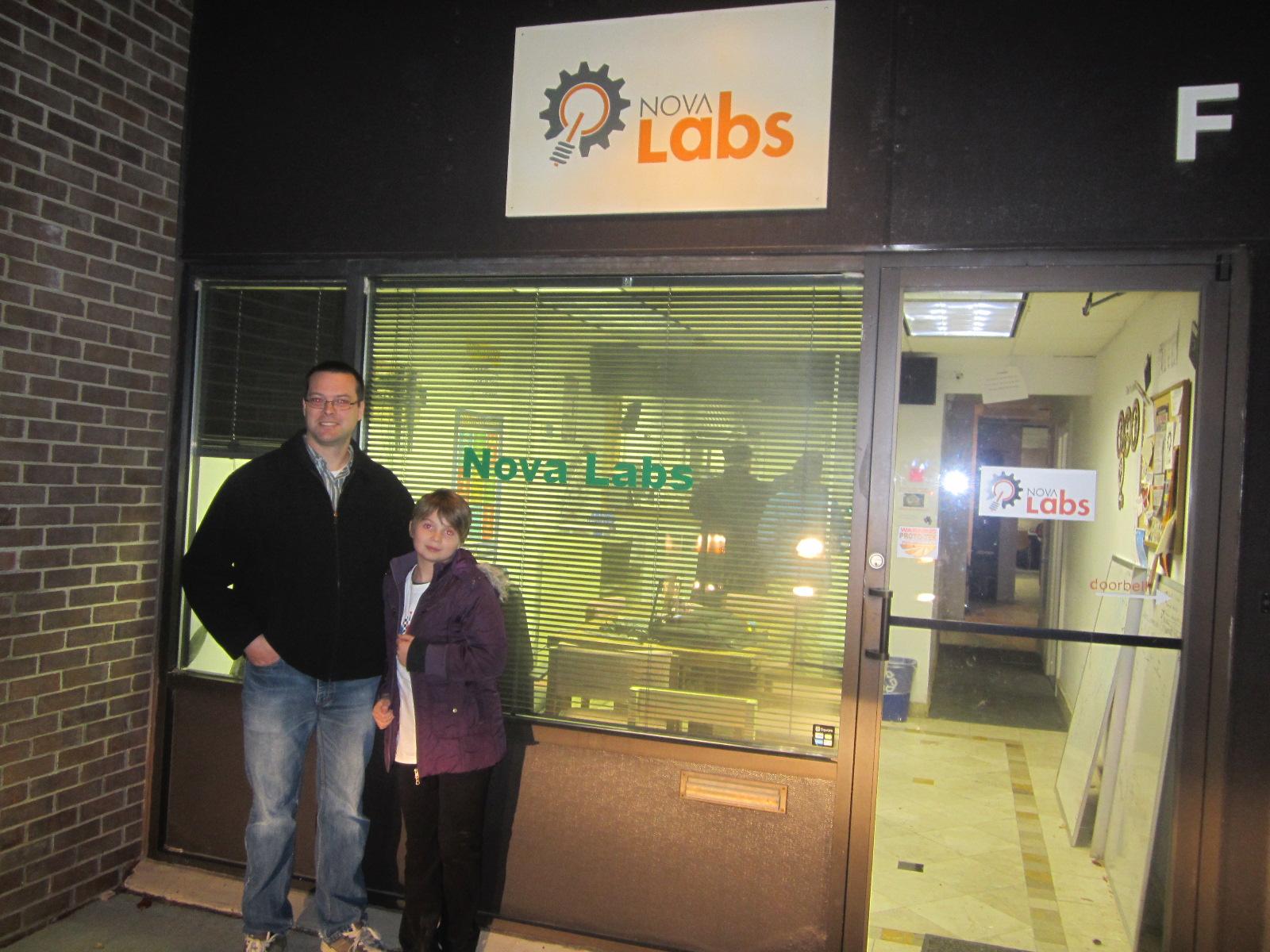 Bob & Nora outside Nova Labs