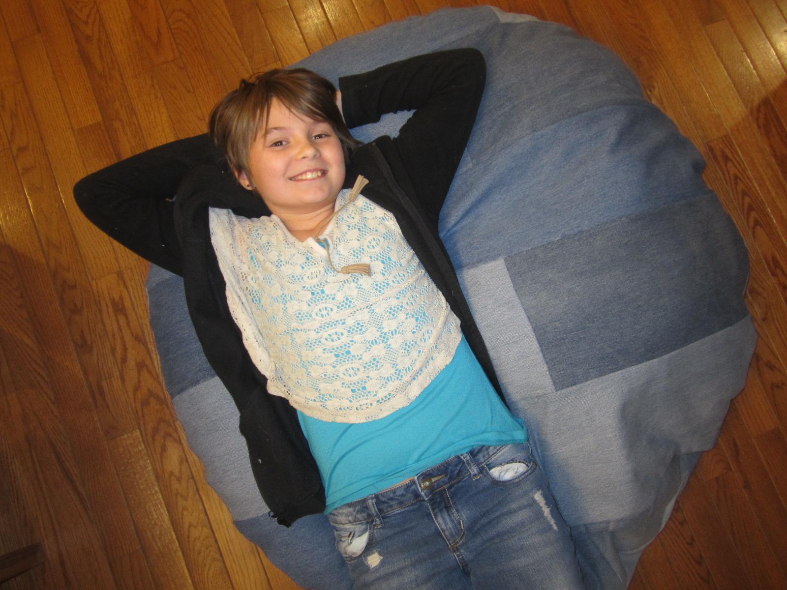 Nora tests the new Huggle Pod cushion