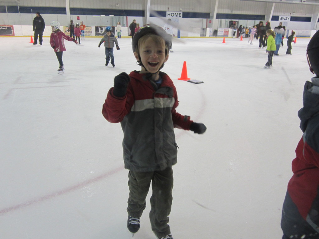 Russell's first skating class