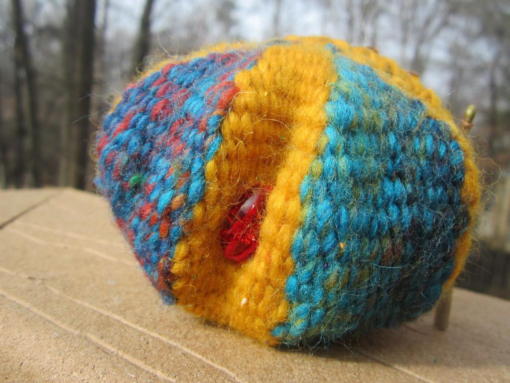 Woven receiving bowl - centering stone