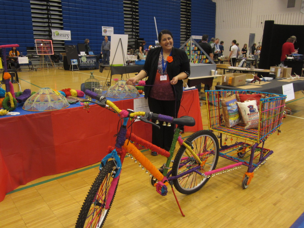Asma Chaudhary and her amazing bicycle trailer art
