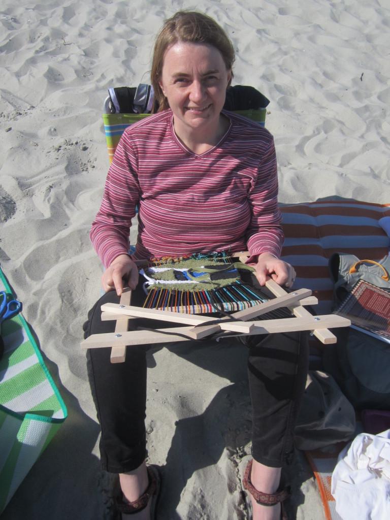 Weaving at the beach