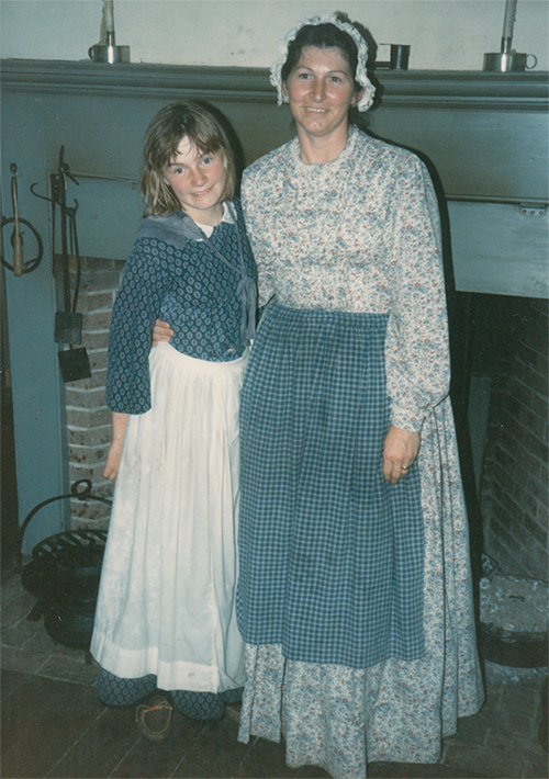 Me with my pretend mother at Heustis House, 1980s