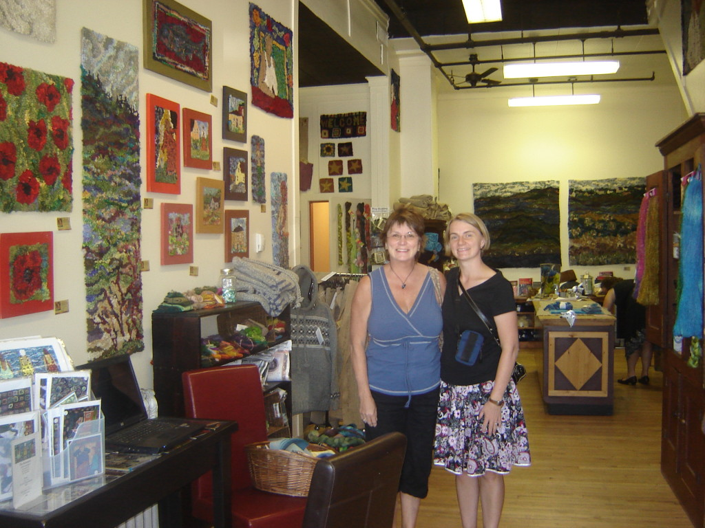 Mom and me at Deanne Fitzpatrick's studio, July 2008