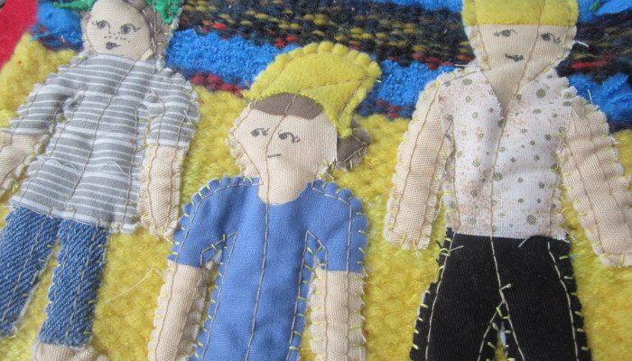 Weaving - Walking on Sunshine - Close-up
