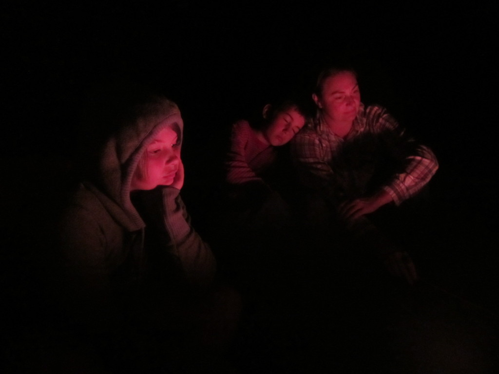 Getting sleepy by the campfire
