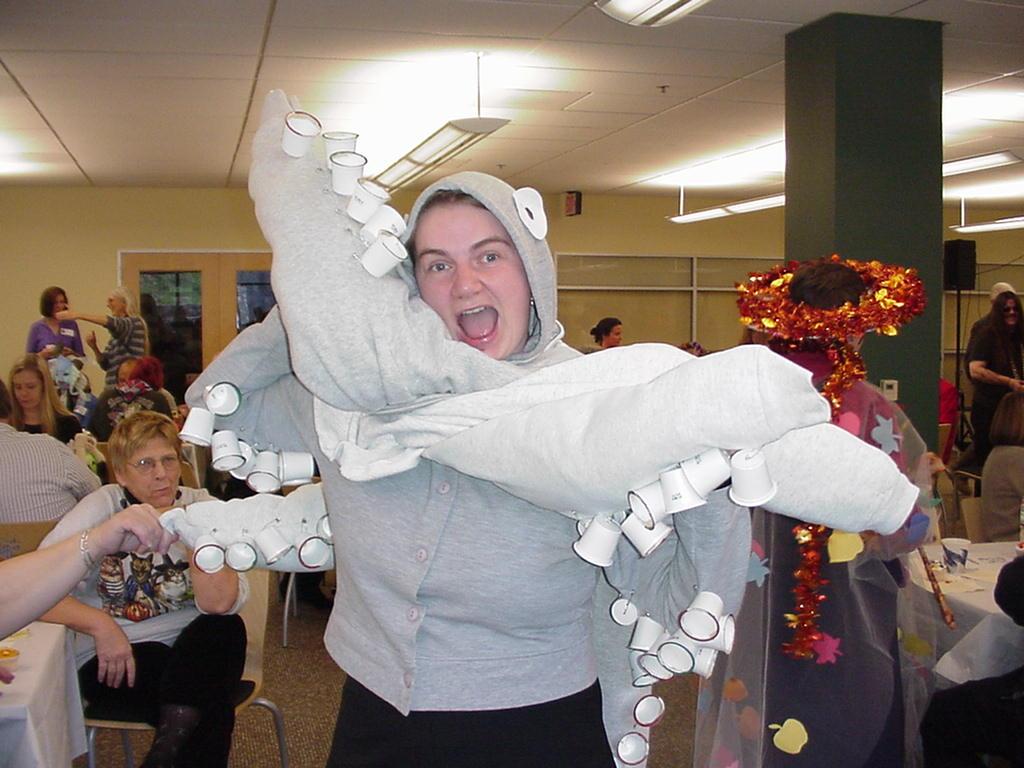 Octopus costume, 2002