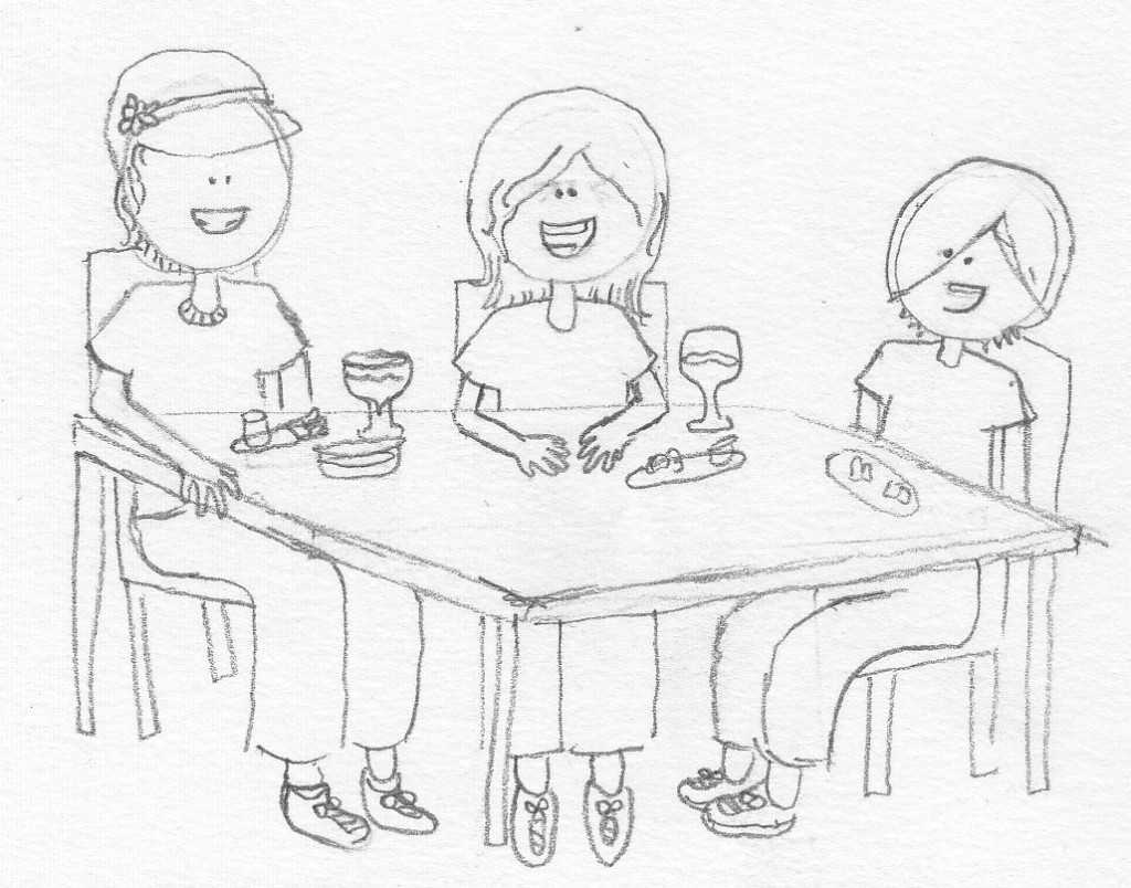 Wacky Dinner Sketch by Nora
