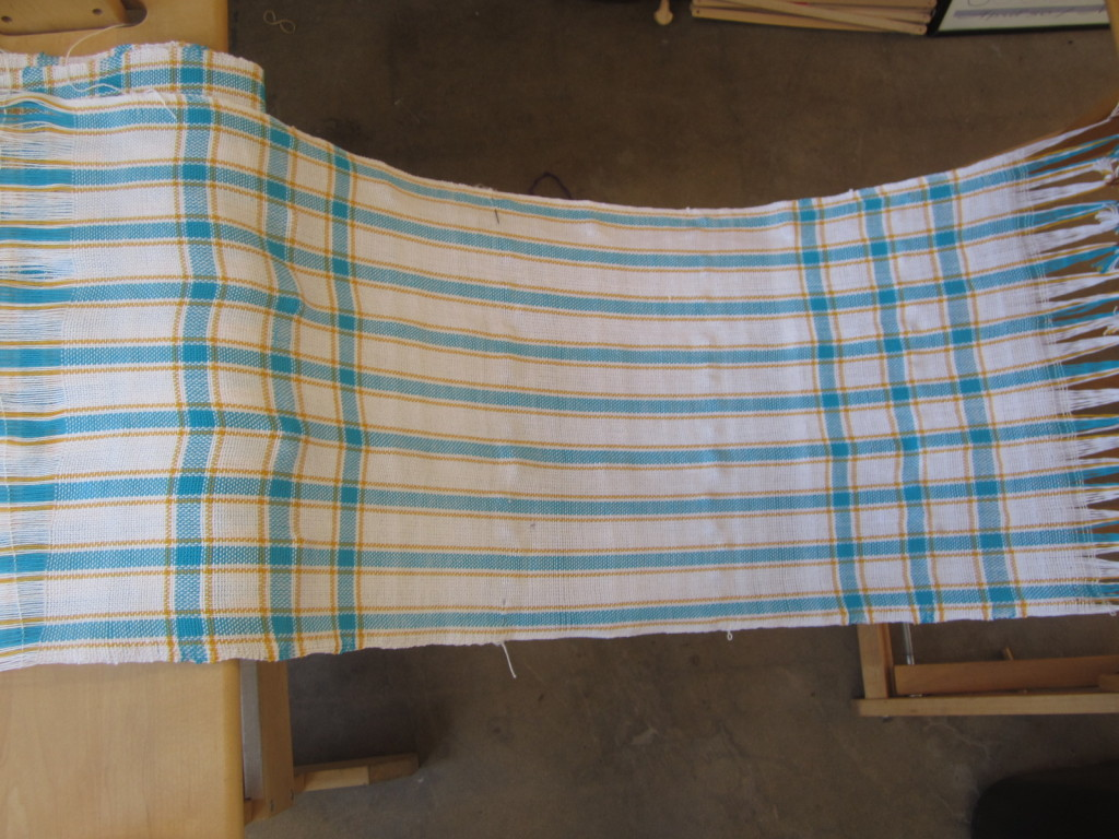 Towel #1, just removed from the loom