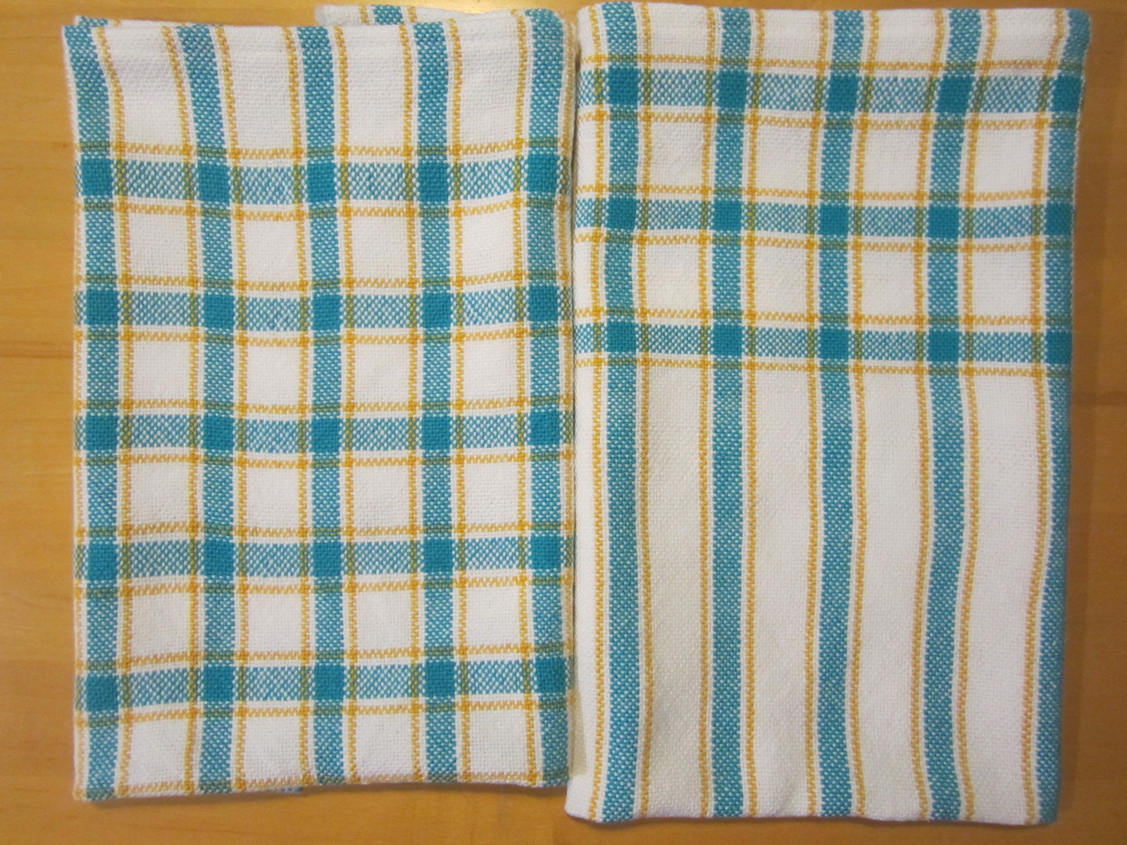 My two hand-woven towels
