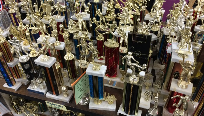 Plenty of trophies at the Pittsburgh Center for Creative Reuse