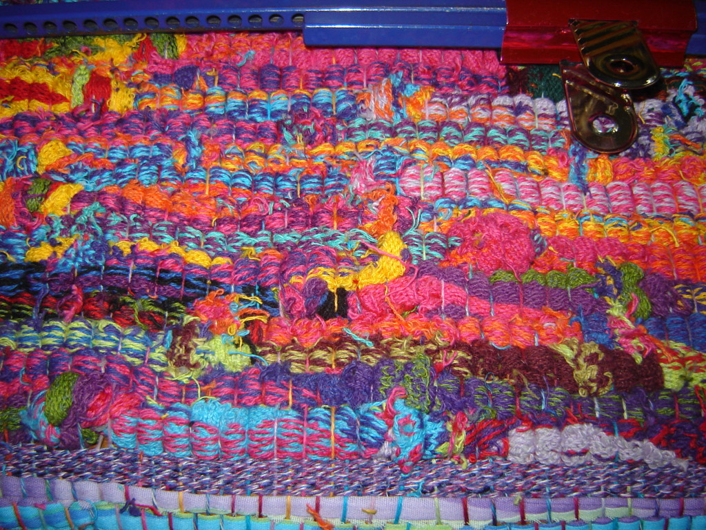 "Rug made from ""seconds"" of socks"
