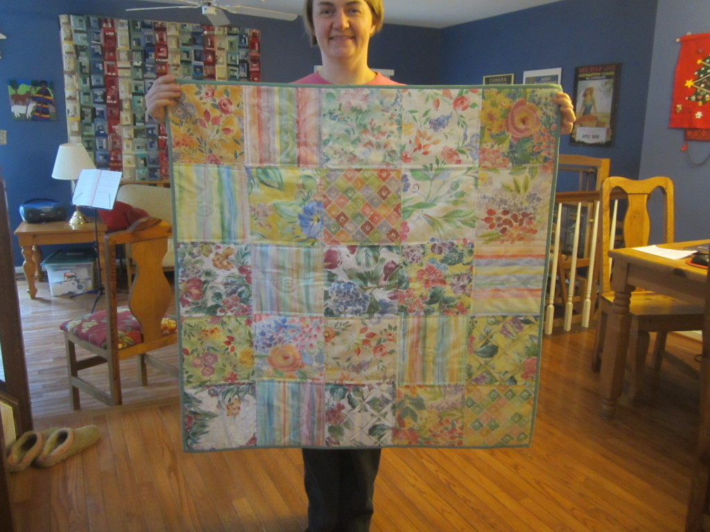 Tyler's quilt before mailing it to Scotland