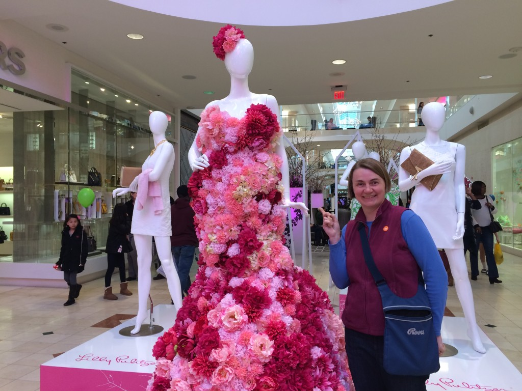 Inspiring flower dress at Westfield Mall