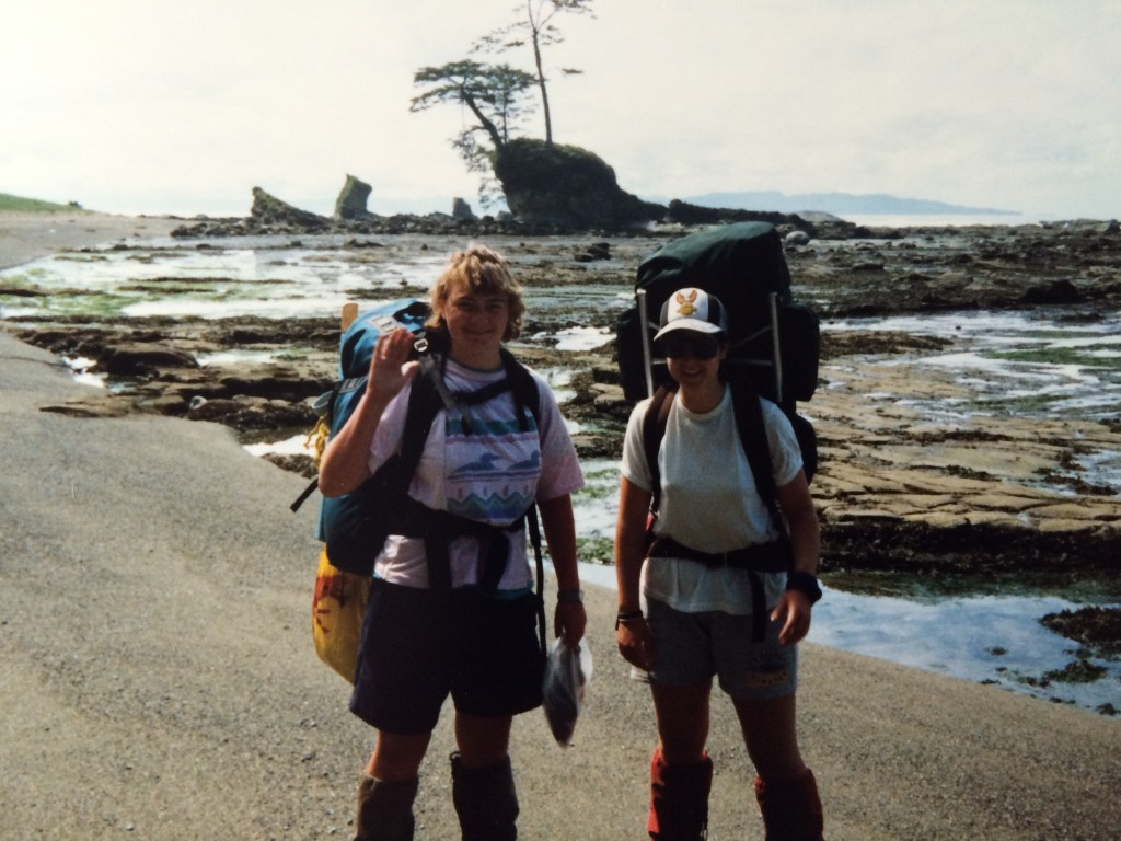 Me & Sherie hiking the West Coast Trail, 1990