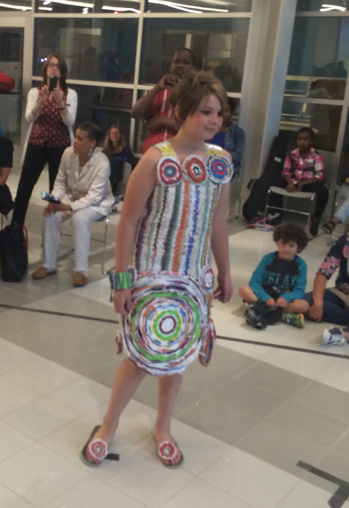 Nora on the runway at Trashion Fashion DC