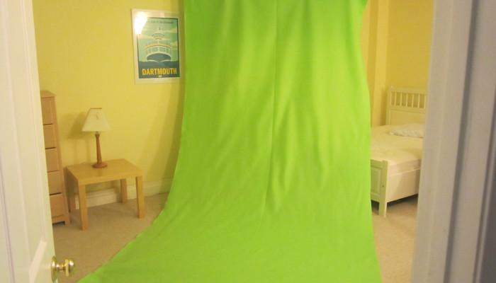 DIY Green Screen from green felt