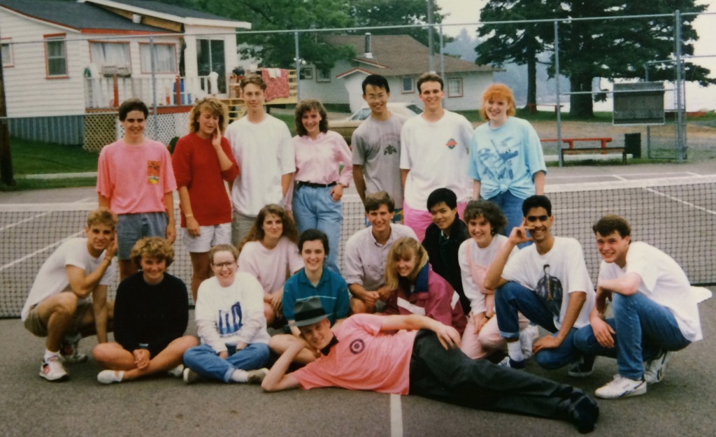 My high school friends after prom, spring 1990