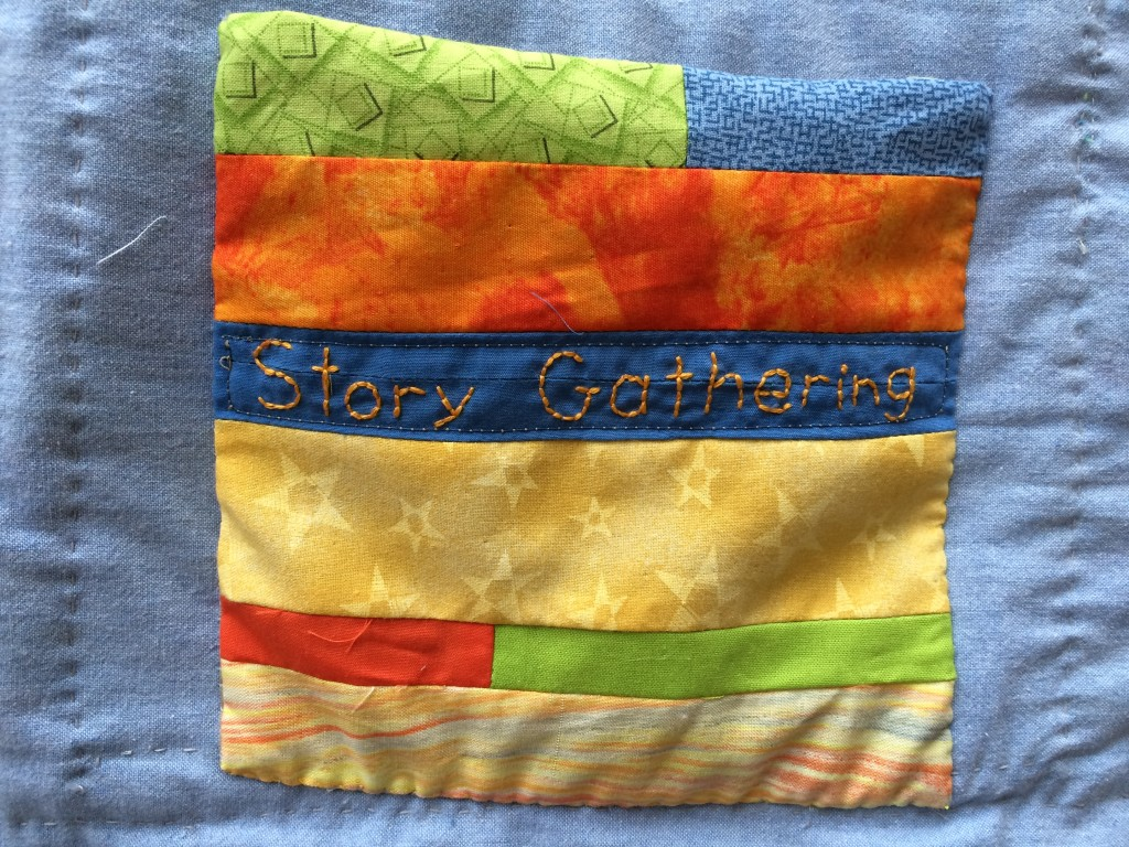 Story Gathering pocket on the back of the Golden Moments weaving