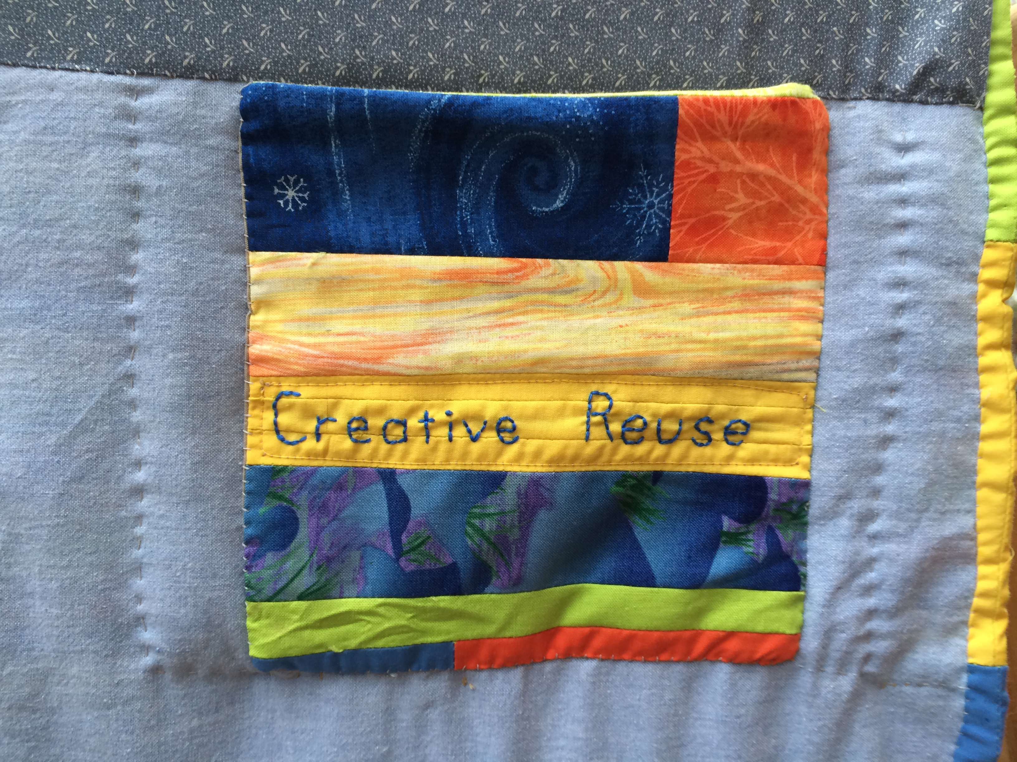 Creative Reuse Pocket on Golden Moments Weaving