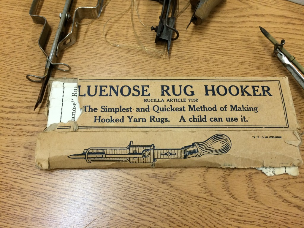 Bluenose Rug Hooker Shuttle Hook for Hooked Yarn Rugs - owned by Michael Heilman
