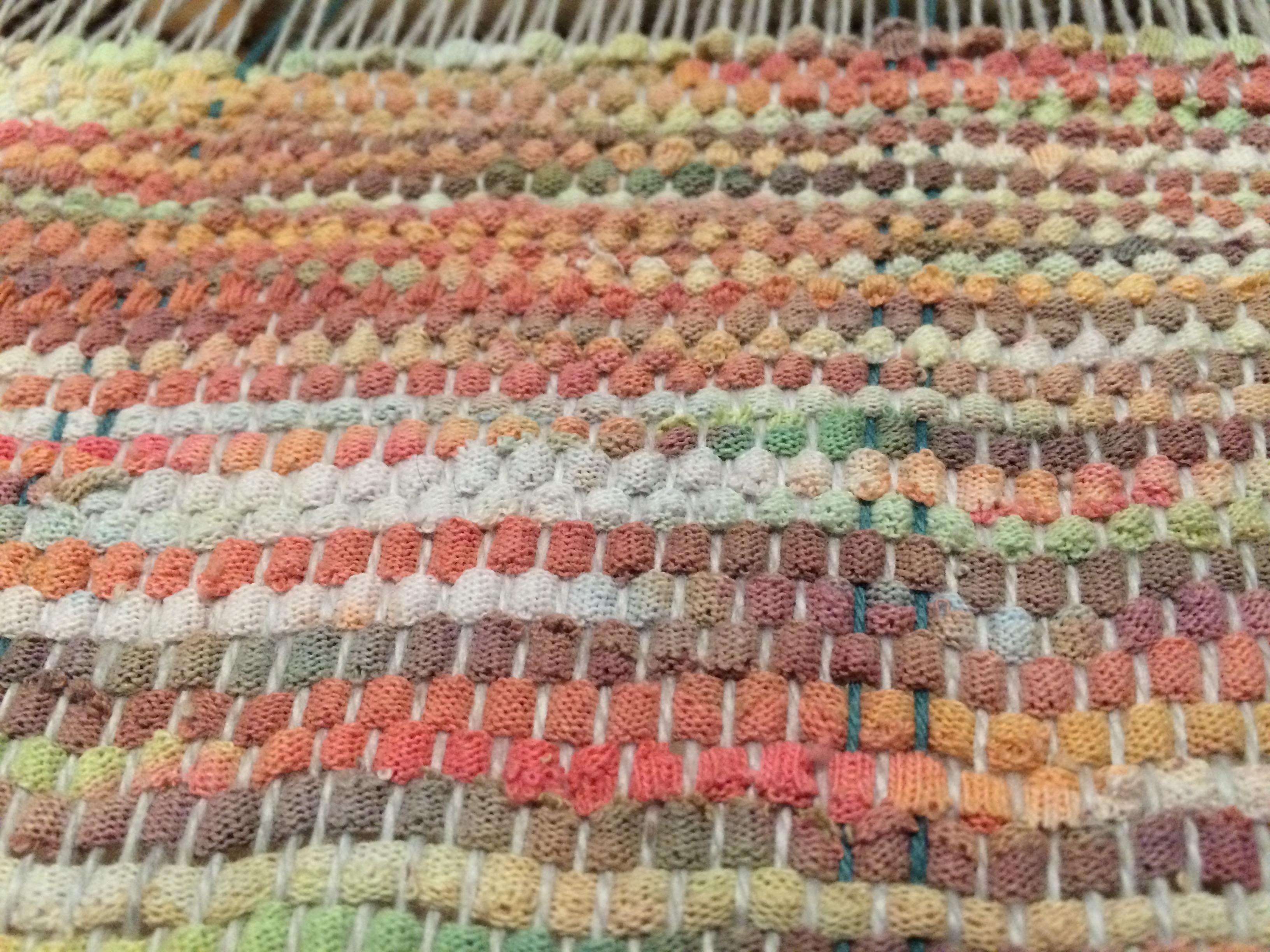 First weaving - tie dye t-shirt