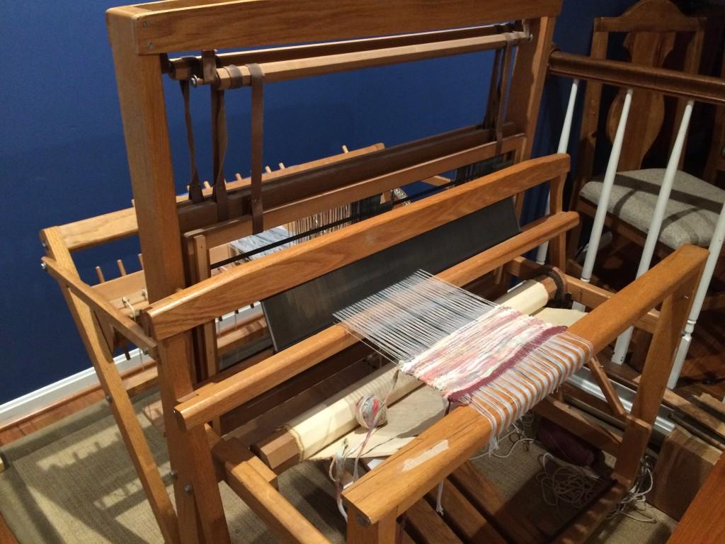 My floor loom ready for action