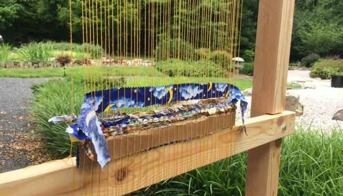 Story Loom in the meditation garden