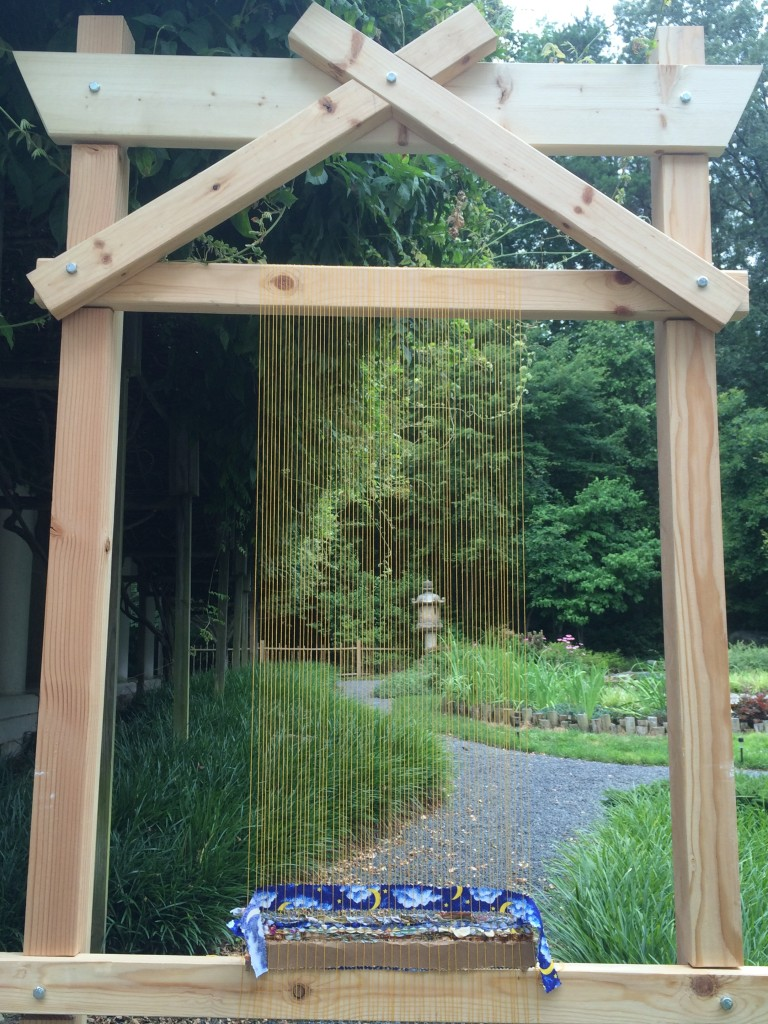 Story Loom in the meditation garden