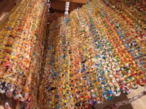 Plastic bag weaving on my loom