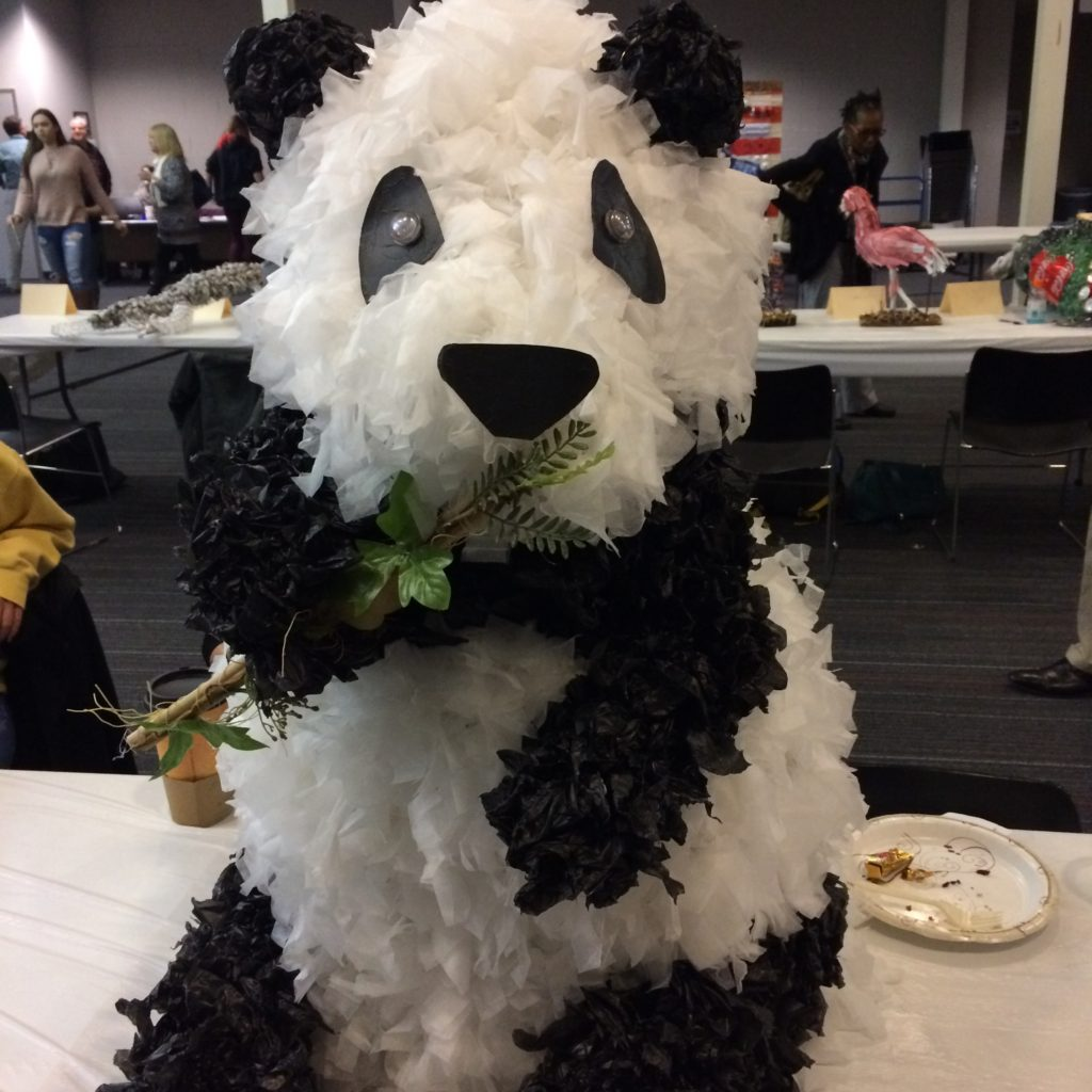 Panda Recycled Art by Taylor Alexander of South Carroll High School
