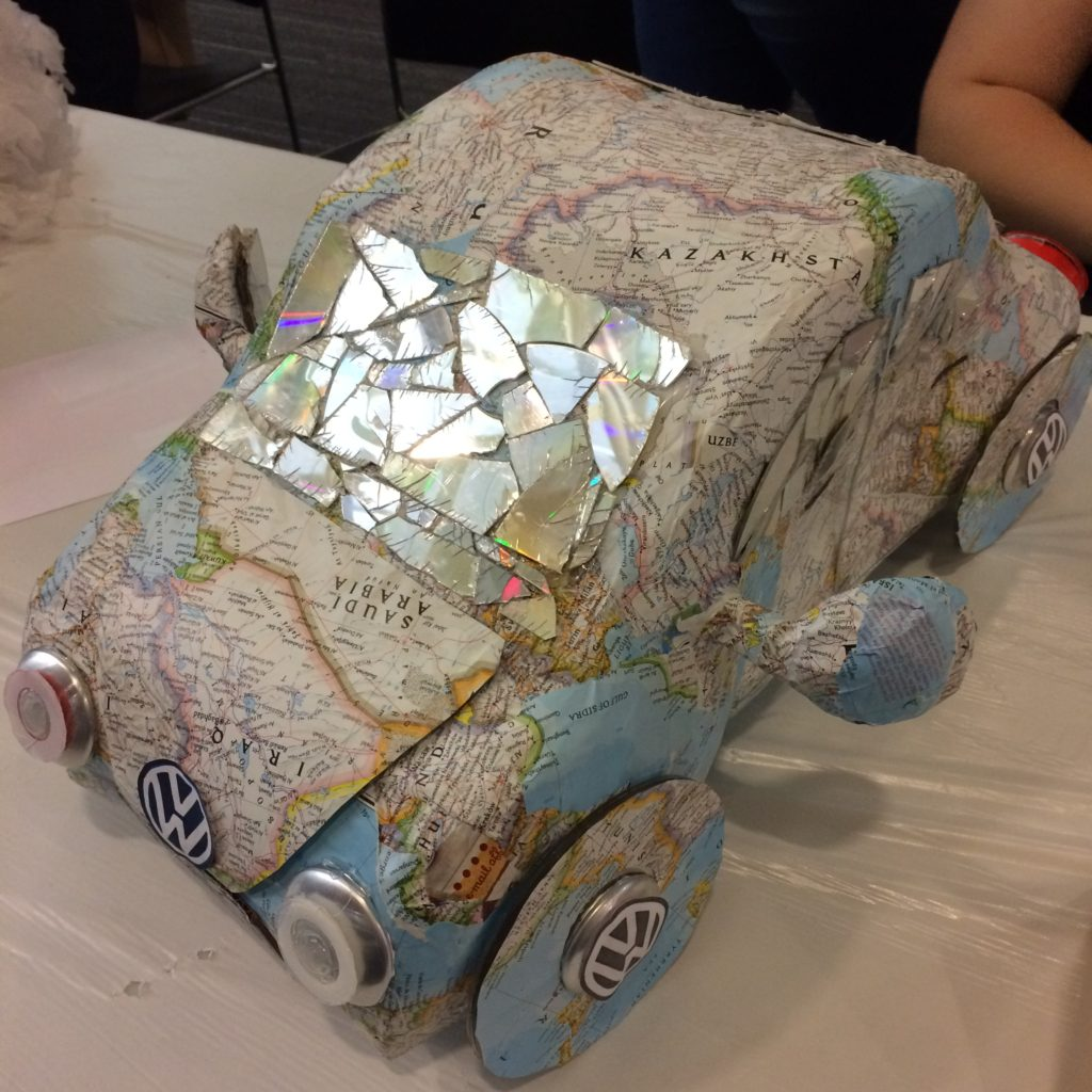 Car Recycled Art by Rei Rodriguez from South Carroll High School