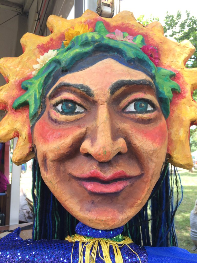 Puppet by Wise Fool New Mexico at Smithsonian Folklife Festival, July 2017