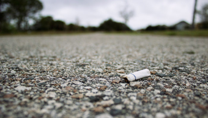 Cigarette litter - photo by Andrew Pons