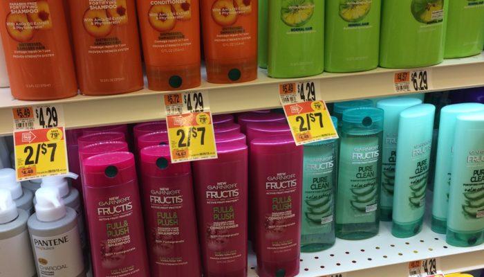 Plastic shampoo bottles - Garnier Fructis